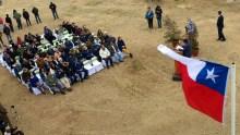 Vistos desde la torre de control del aeródromo, los asistentes al acto oficial del sábado 7 a mediodía (foto: Guillermo Sánchez/Fidaegroup).