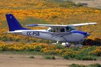Listo para despegar por la pista 10, el Cessna 172H CC-PSB registrado a nombre de Francisco Arias y Germán Díaz (foto: Carlos Ay).