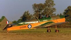 Tal como ilustra su esquema de pintura, el LV-X246 es un antiguo entrenador de la Real Fuerza Aérea Británica (foto: Sergio Cáceres).