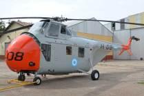 Una de las novedades de este año, el Sikorsky H-19A-SI Chickasaw H-08 recientemente restaurado. (Foto: E. Brea)