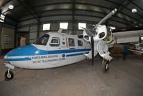 Rockwell AC-500U Aerocommander T-143, el mejor conservado de los tres que dispone la institución. (Foto: E. Brea)