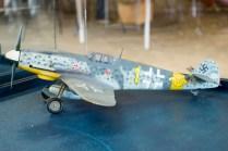 Clásico alemán de la II Guerra Mundial: Un Messerschmitt Bf-109 en escala 1/32 (foto: Javier Vera Martínez/La Serena Spotting).