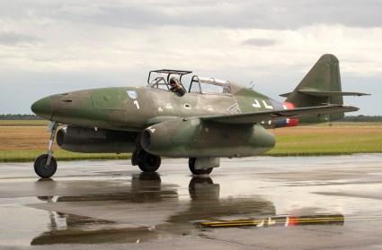 Me-262 Schwalbe en marcas de la Luftwaffe alemana de la II Guerra Mundial (foto: Javier Vera Martínez).
