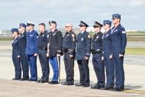 Ceremonia de homenaje a policías y militares con base en Houston (foto: Javier Vera Martínez).