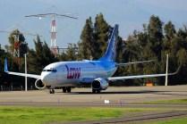 El CC-ASQ rodando a cabecera 17R para un vuelo a Mendoza (Argentina) en agosto de 2017 (foto: Carlos Ay).