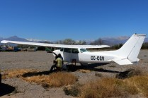 """White Skyhawk"": Cessna 172M CC-CGV (photo: Carlos Ay)."