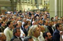 FAdeA employees and guests attending the ceremony on the South side of Hangar 90. A Pampa II can be noted on the background (photo: Diego Rojo).