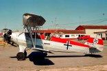 """Focke-Wulf/FMA FW-44J Stieglitz LV-YYZ """"Hans J. Marseille"""" / """"Stern von Afrika"""" (photo: Carlos Ay)."""