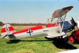 """Focke-Wulf/FMA FW-44J Stieglitz LV-YYX """"Hans J. Marseille"""" / """"Stern von Afrika"""" (photo: Carlos Ay)."""