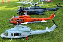 Models: Chile's Aircraft Modellers Club helicopters, gliders and glider tug (photo: Carlos Ay).