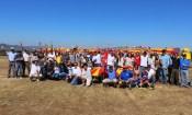 Glad to be here! Hosts and visitors posing for Gaceta Aeronáutica (photo: Carlos Ay).
