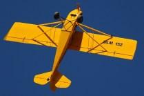 """Aerobatic ultra light: Scout III ULM-152 """"Tic Toc"""" looping the loop (photo: Carlos Ay)."""