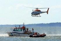 Coast Guard AS-355SN Ecureuil PA-80 in exercise Immediate Response (Respuesta Inmediata) in November (photo: Sixto Fariña).