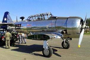 Caught on arrival at the fair ground, National Air & Space Museum's SNJ-5 Texan 237/CC-DMI (photo: Carlos Ay).