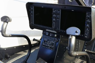"""The Jet Ranger X features Garmin G1000H avionics system with interchangeable dual 10.4"""" flat panel high-resolution LCDs and ergonomic, pilot-approved flight controls (photo: Carlos Ay)."""