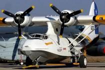 """Aeroservicios Parragué's OA-10A Catalina CC-CDT posing as FACH 405 """"Manutara"""" (photo: Carlos Ay)."""