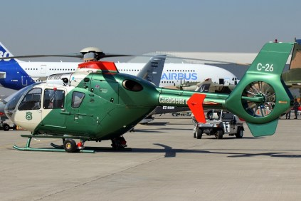 Chilean Carbineers' Airbus Helicopters EC135P2+ C-26 (photo: Carlos Ay).