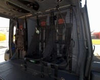 Seats in the main cabin can be fitted with modular armor for passenger protection (photo: Carlos Ay).