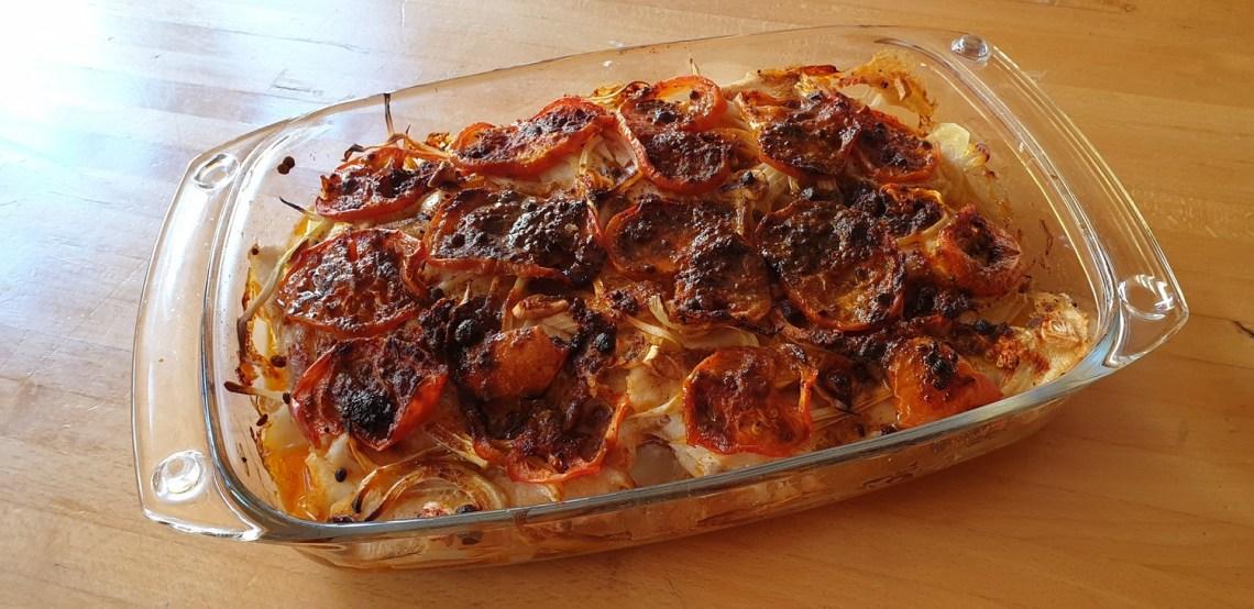 Cherne al horno con pimentón, listo para comer