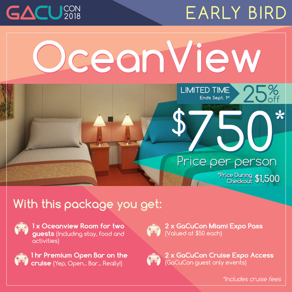 GaCuCon Level 2 Elite Guest + Oceanview Room
