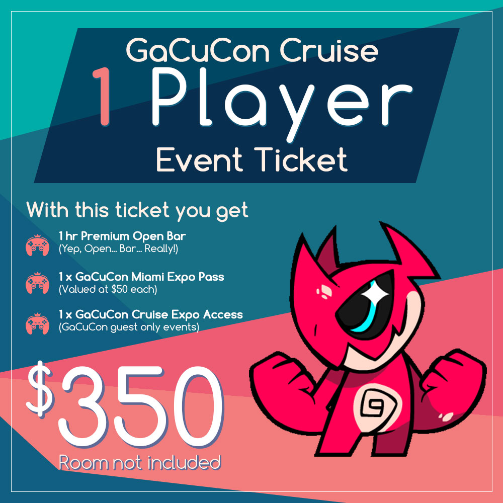 1 Player – GaCuCon 2018 Event Ticket