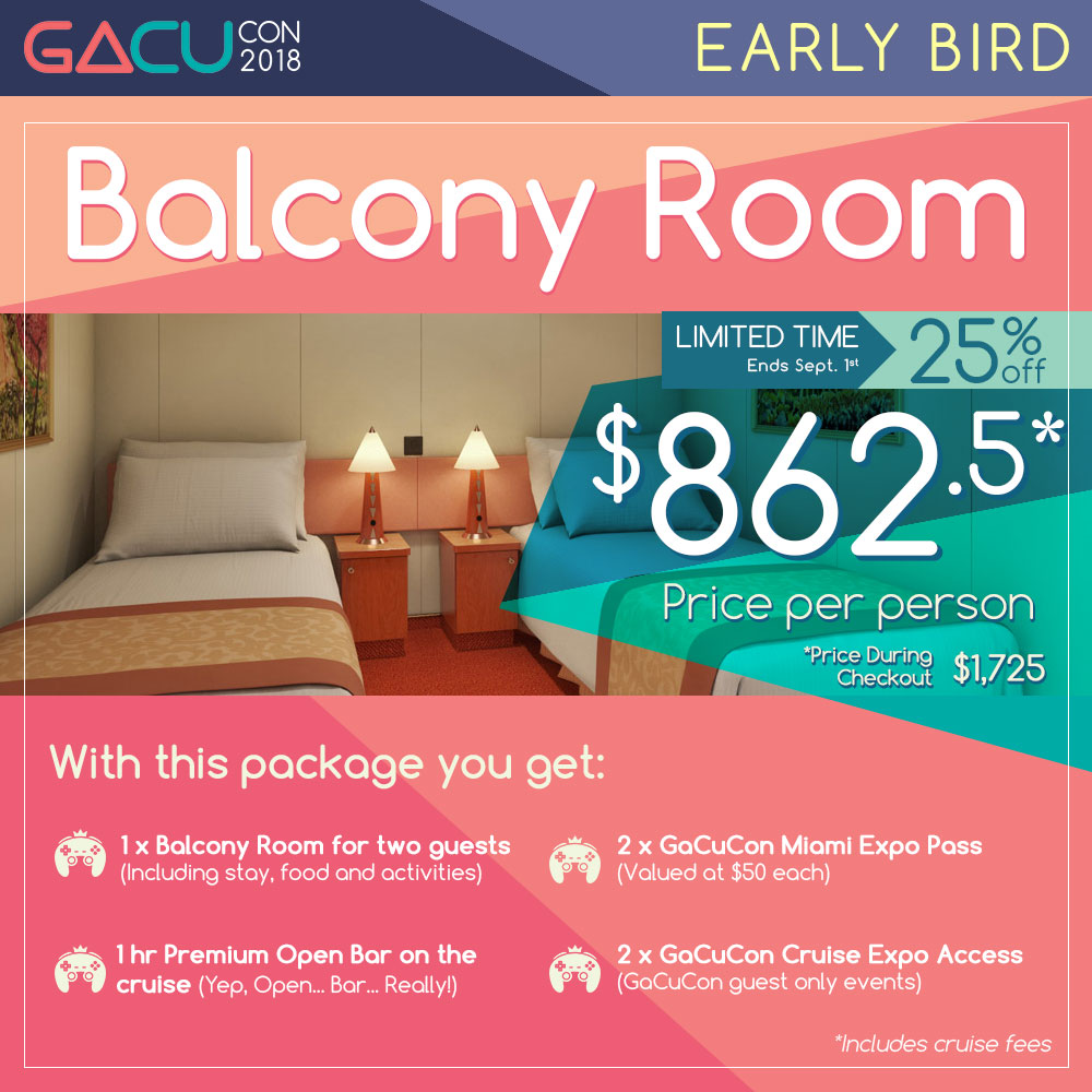 GaCuCon Level 3 Master Guest + Balcony Room