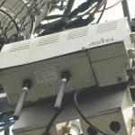 明星電気製20mW ASTEL基地局CS1M(左)