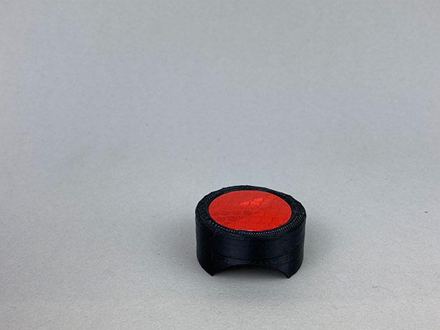 Fahrradhalterung Reflektor für die Sattelstütze schwarz liegend