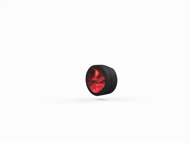 Fahrradhalterung Reflektor für die Sattelstütze schwarz vorderseite