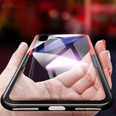 Bakeey Protective Case for iPhone XS Max Clear Tempered Glass Back Cover TPU Frame