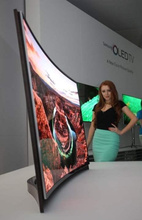 primul televizor OLED Samsung cu ecran curbat (1)