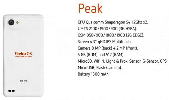 telefon peak firefox os
