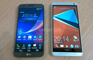 Comparatie LG G Flex vs HTC One Max