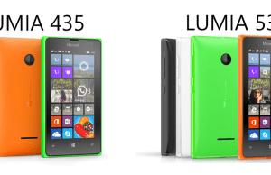 lumia 435 si 532