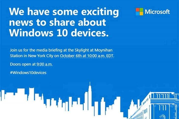 Microsoft anunta evenimentul cu presa de pe 6 Octombrie