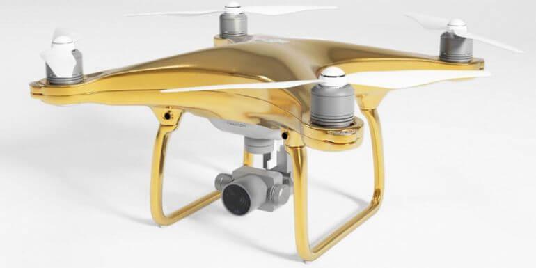 Dronele placate cu aur