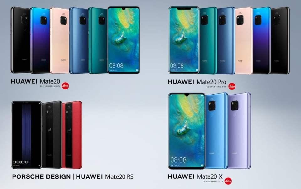 Huawei anunta telefoanele Mate 20
