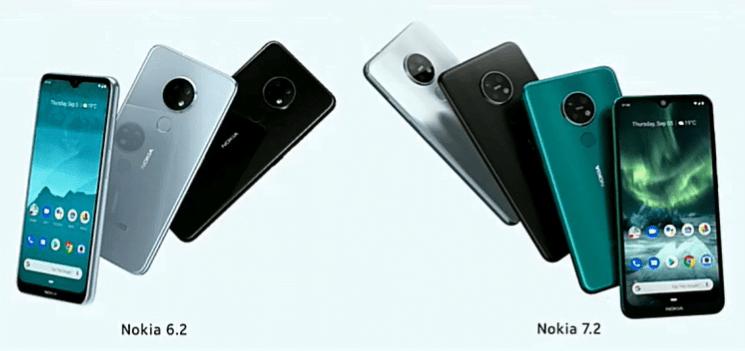 Nokia 7.2 si Nokia 6.2