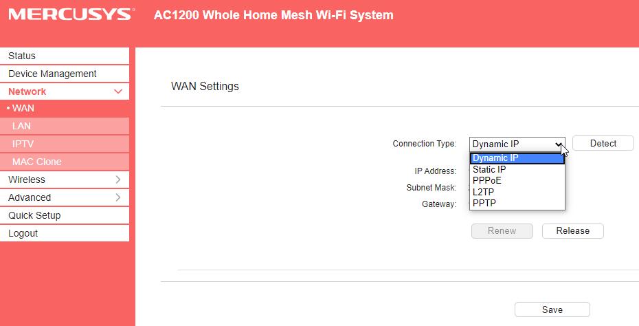 HALO S12 configurare internet