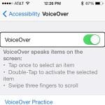 iPhone持ってる奴らいたら設定→一般→アクセシビリティ→VoiceOverをオンにしてみろwwwwwwww