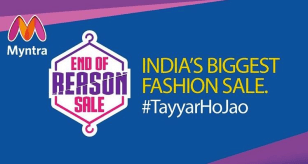 Image result for myntra end of reason sale 2018