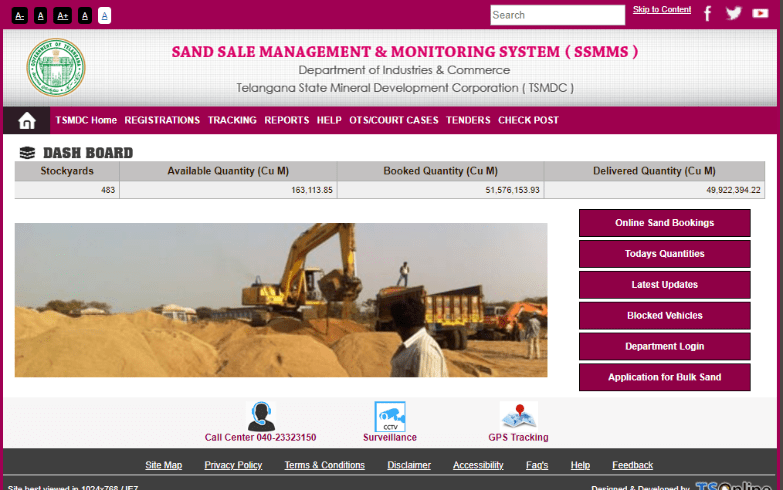 What is SSMMS? SSMMS – Online TS Sand Booking Registration, Track Sand …