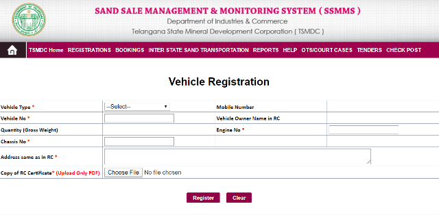 The process to register a vehicle