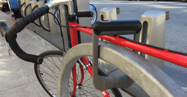 Grasp bicycle lock
