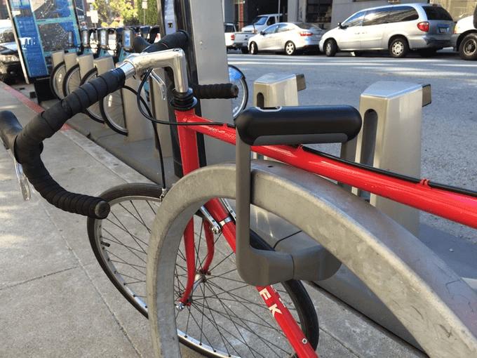 Grasp bicycle lock