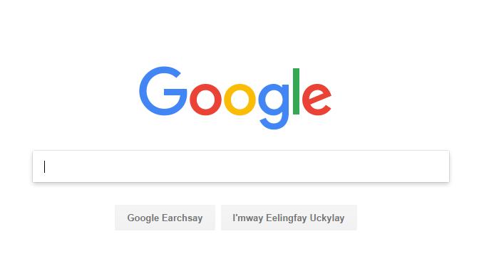 Google Pig Latin