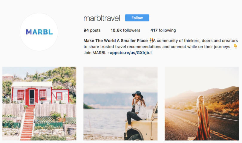 Marbl travel app