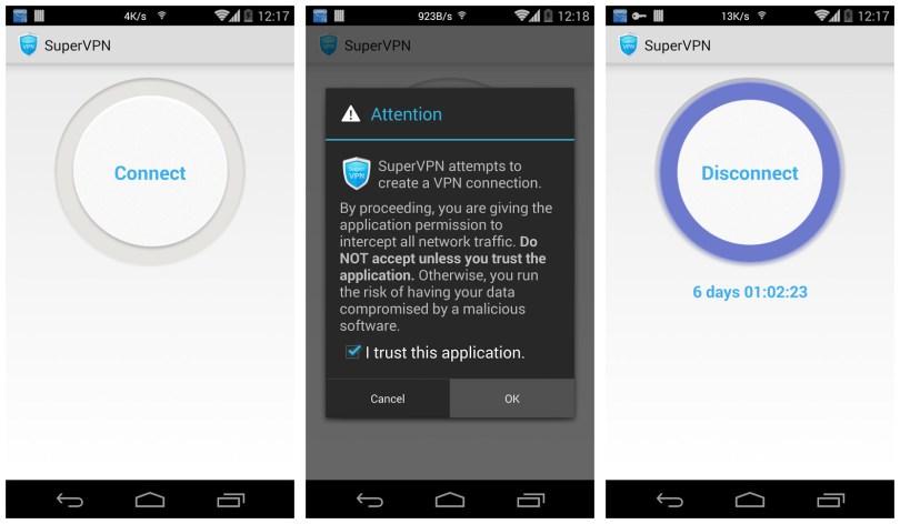 Super VPN app for Android