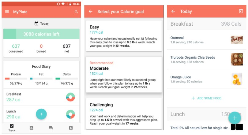 MyPlate Calorie and Food tracker