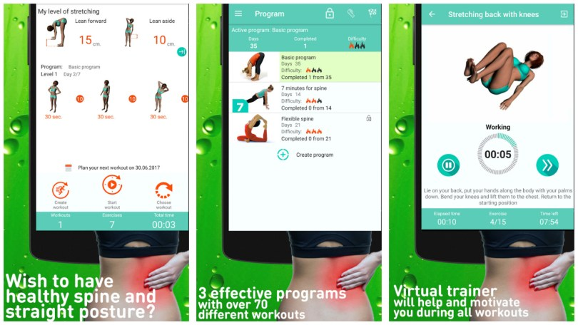 Healthy Spine and Straight Posture mobile app